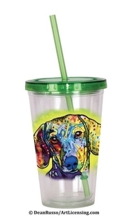 Dachshund Cup with Straw